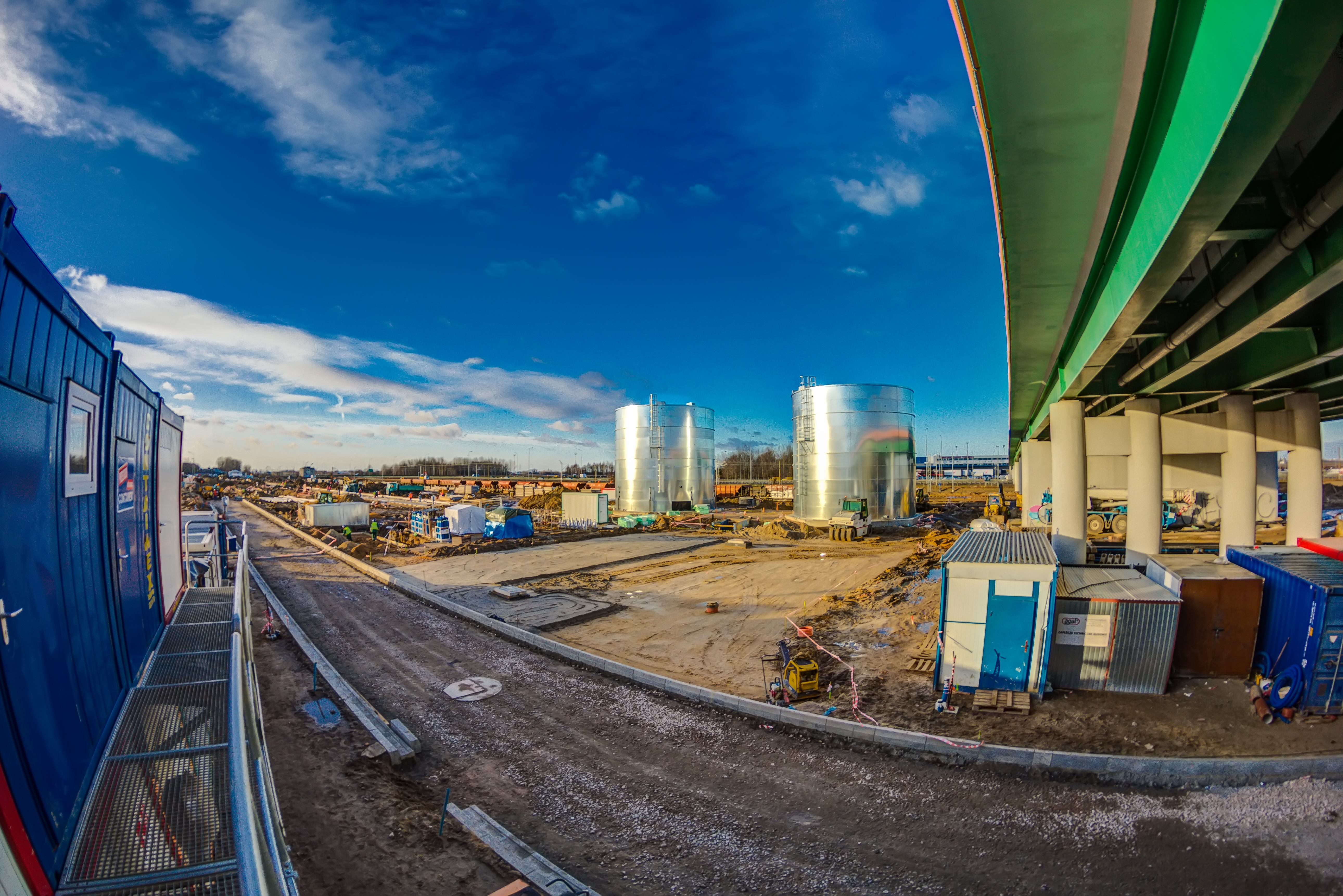 Construction of JET-A1 rail supply facility at the Chopin Airport in